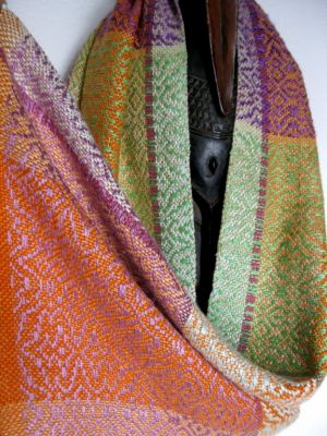 Handwoven Hand Dyed Silk Shawl